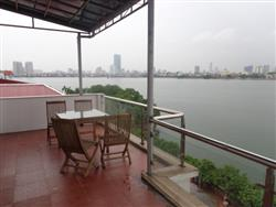 Bright lake view big balcony 1 bedroom apartment in Tay Ho (Fr)